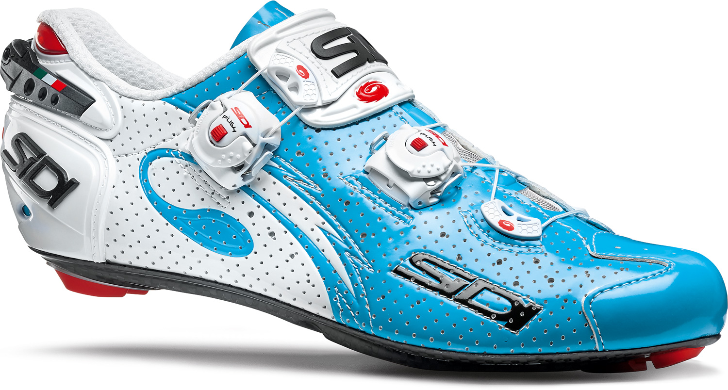 SIDI Wire Carbon Air Road Shoe White/Sky Blue £226.99