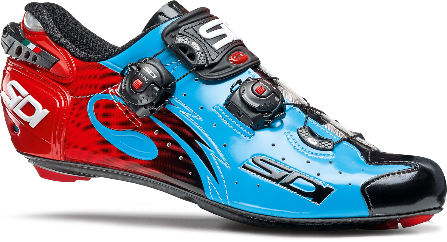 SIDI Wire Carbon Road Shoe Vernice Sky Blue/Red £226.99