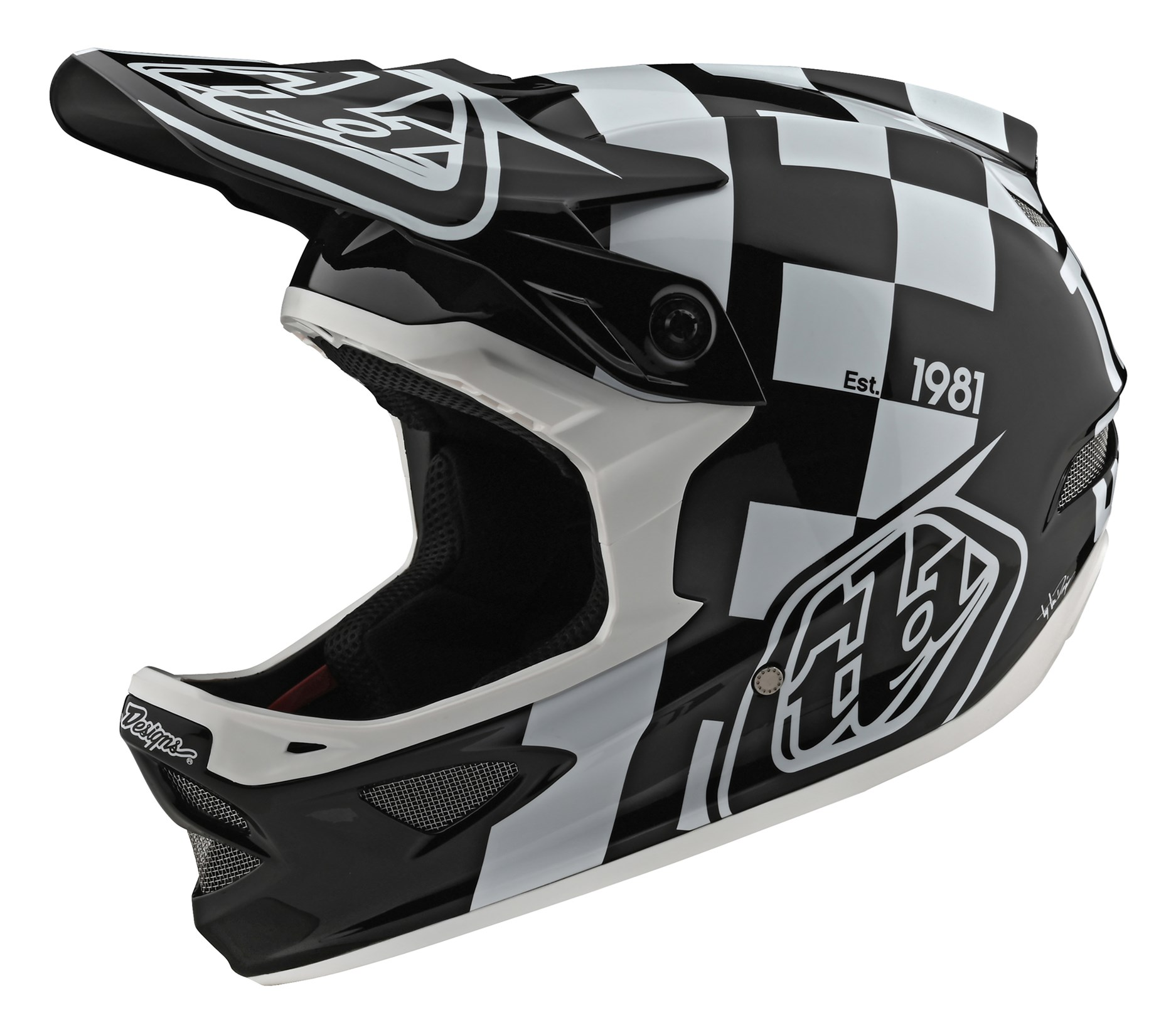 Troy Lee Designs D4 Carbon Slash Adult Off-Road BMX Cycling Helmet