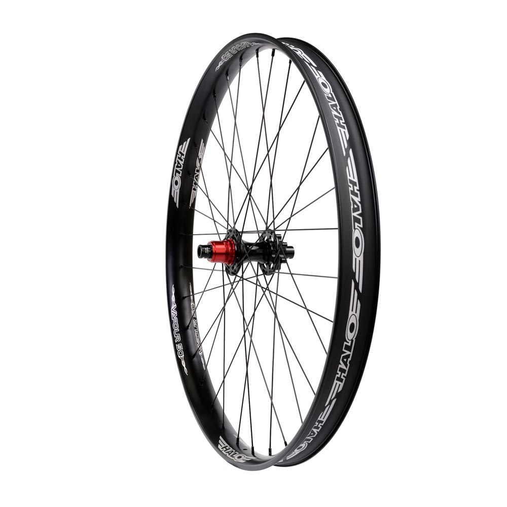 Halo Vapour 50 Wheels 27  5 Boost 148 XD Drive Black and White Rear